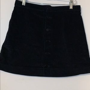 American apparel black corduroy skirt .